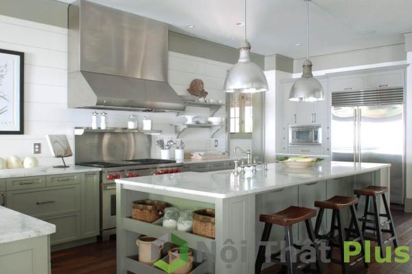 nội thất nhà bếp kết hợp bàn ăn cho căn hộ chung cư