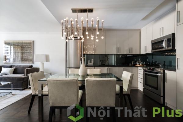 Nội thất phòng khách cho căn hộ chung cư 116m2