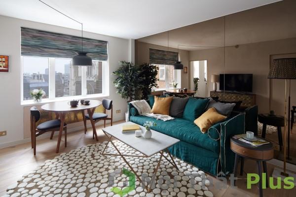 Thiết kế phòng khách cho căn hộ có diện tích 80m2