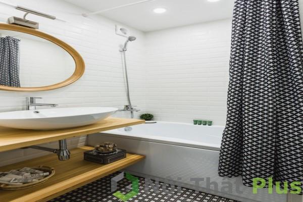 Nội thất phòng tắm cho căn hộ có diện tích 82m2.