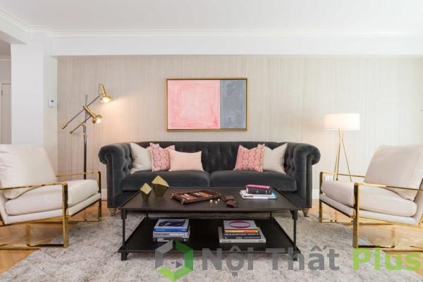 Bố trí nội thất phòng khách cho căn hộ chung cư 2 phòng ngủ