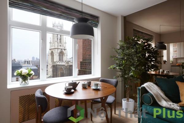 Kết hợp bàn trà với không gian tinh tế.