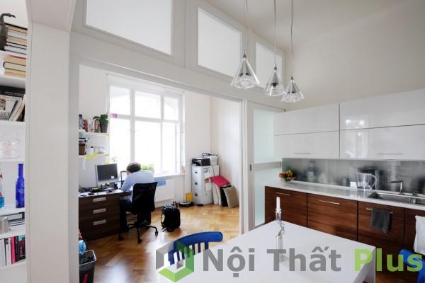 Nội thất phòng khách thiết kế cho căn hộ 75m2.