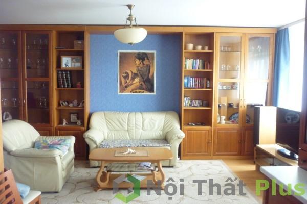 Phòng khách cho căn hộ có diện tích 73m2 nhìn từ góc độ khác.