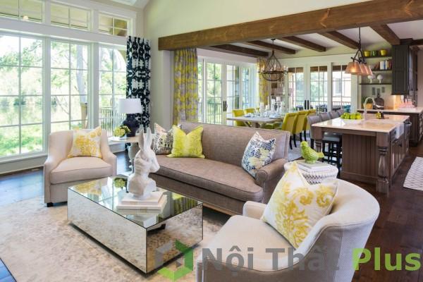 thiết kế phòng khách được thiết kế hiện đại cho căn hộ chung cư