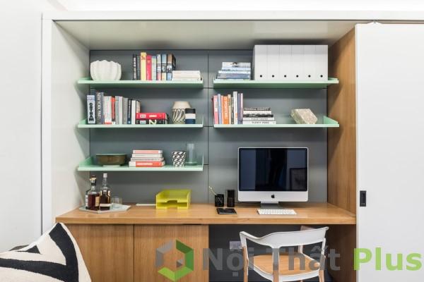 Thiết kế phòng làm việc cho căn hộ 1 phòng ngủ