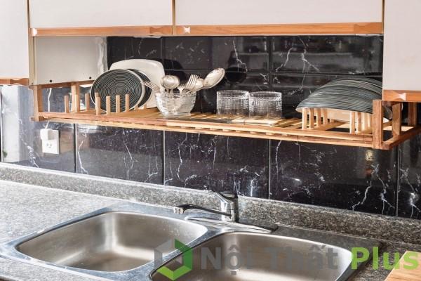 Không gian nội thất nhà bếp cho căn hộ có diện tích 85m2