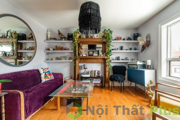 Không gian nội thất phòng khách cho căn hộ có diện tích 85m2