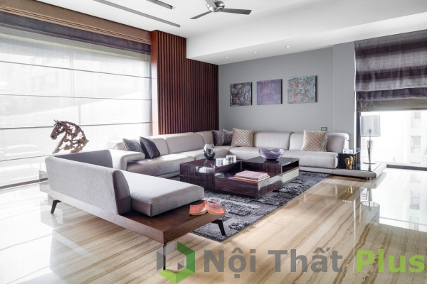 nội thất phòng khách cho căn hộ tân cổ điển