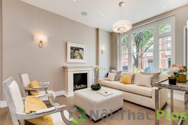mẫu phòng khách đẹp cho nội thất nhà phố