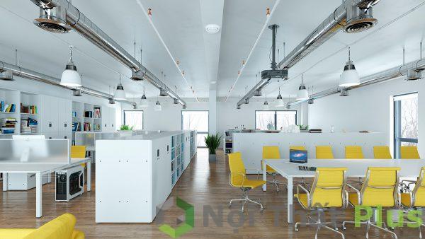 mẫu thi công nội thất văn phòng làm việc