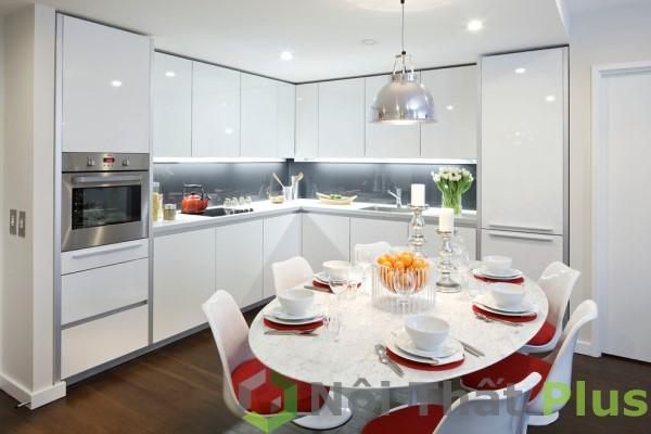 mẫu phòng bếp sang trọng cho nội thất chung cư