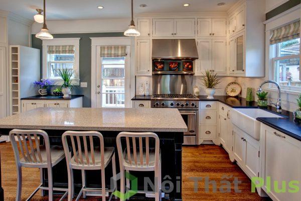 mẫu phòng bếp tiện nghi cho nội thất nhà 80m2