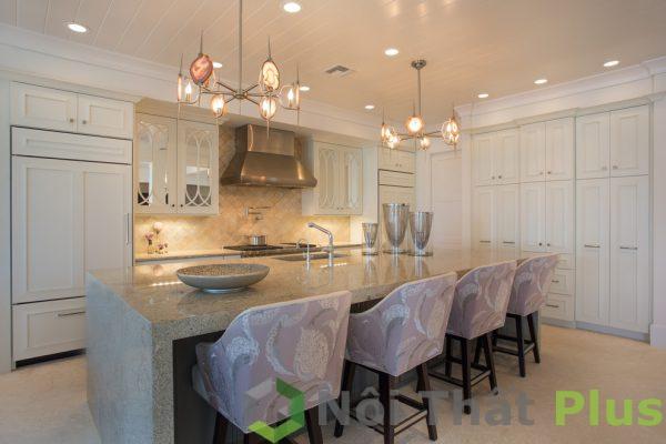 mẫu phòng bếp sang trọng cho nội thất nhà phố 100m2