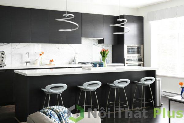 mẫu nội thất phòng bếp hiện đại trẻ trung