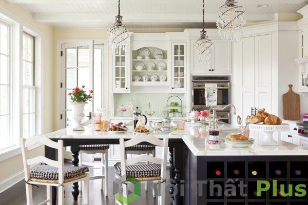 không gian nội thất phòng bếp cổ điển số 6