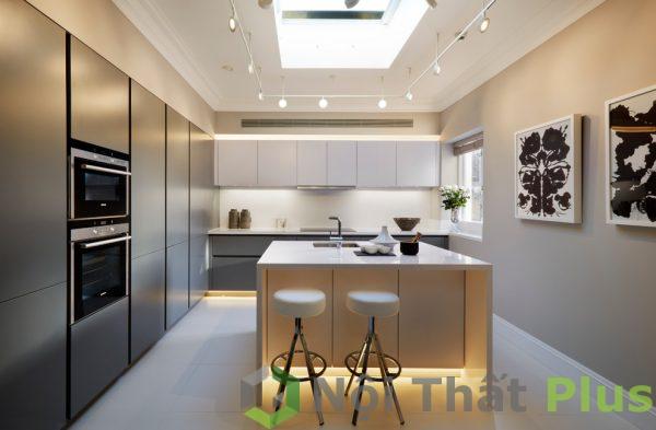 mẫu tủ bếp có bàn đảo sang trọng cho nội thất phòng bếp