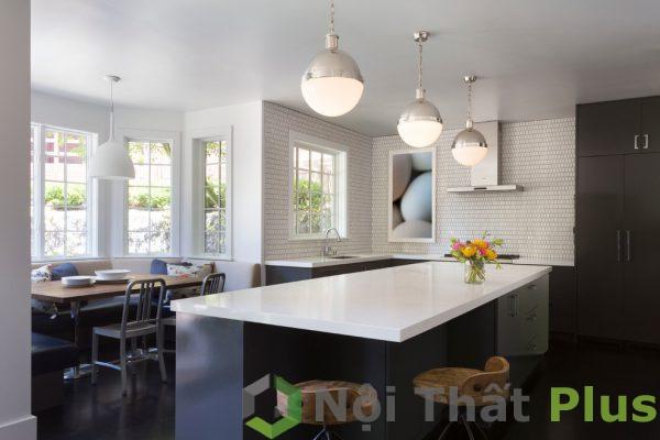 mẫu phòng bếp được thiết kế rộng rãi