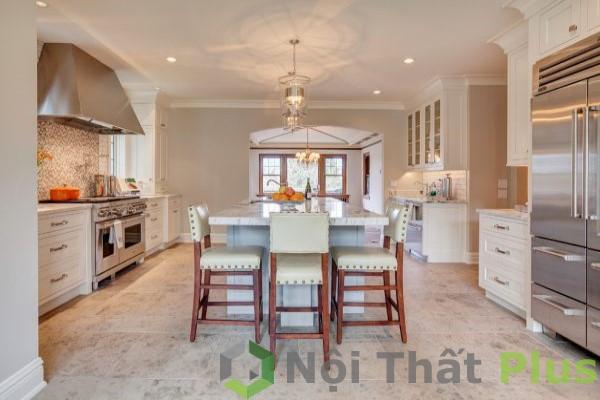 mẫu nội thất phòng bếp tân cổ điển số 6
