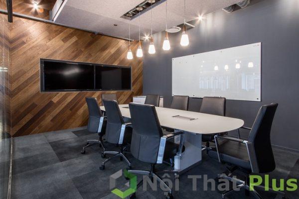mẫu thiết kế phòng họp hiện đại, thoáng mát