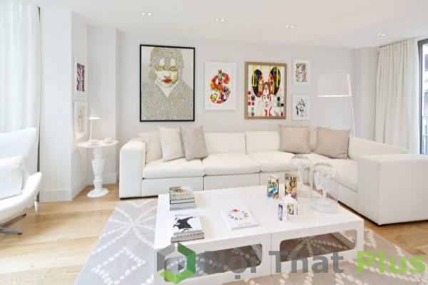 mẫu phòng khách sang trọng cho nhà phố50m2
