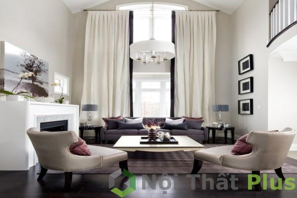 mẫu phòng khách cho nhà 60m2