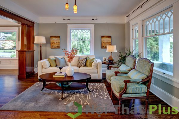 mẫu phòng khách đẹp cho nội thất nhà phố 80m2