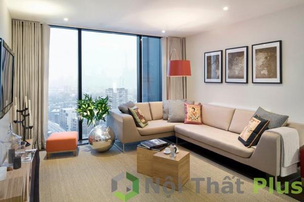 mẫu phòng khách sang trọng cho nội thất chung cư