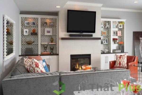 thiết kế nội thất phòng khách cho nhà phố nhà cấp 4
