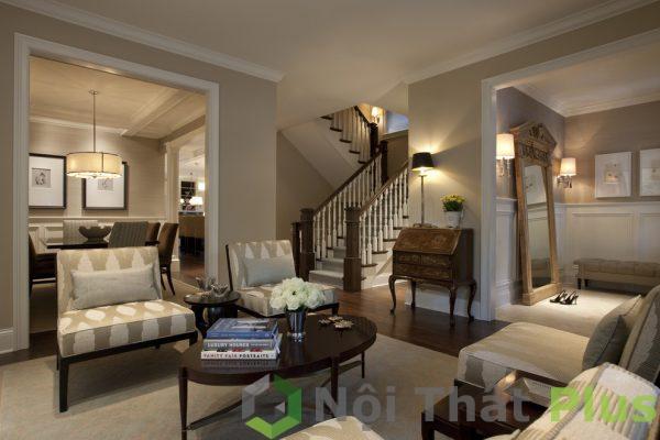 mẫu nội thất phòng khách tinh tế cho nhà ống