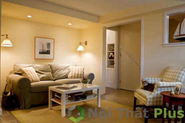 mẫu phòng khách cho nhà nhỏ 35m2