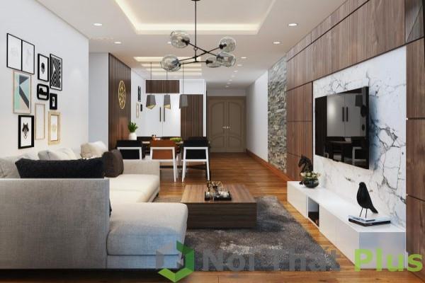 thi công nội thất phòng khách chung cư