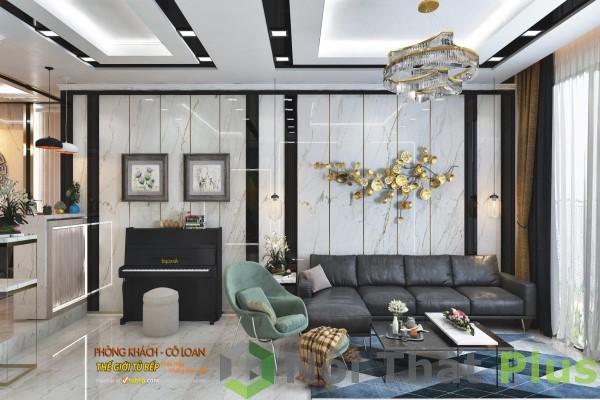 mẫu nội thất phòng khách cho nội thất chung cư 2 phòng ngủ