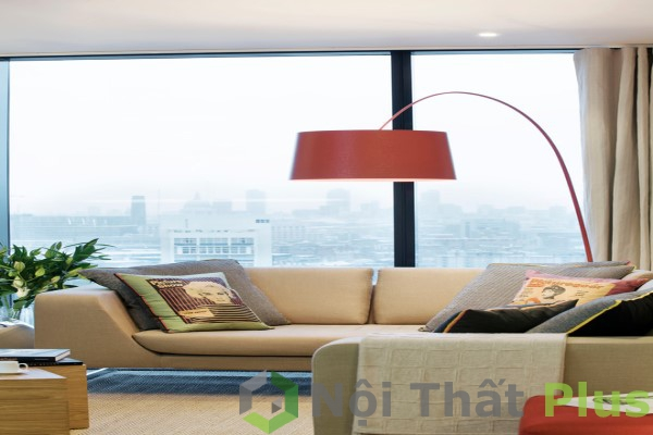 không gian phòng khách chung cư hiện đại