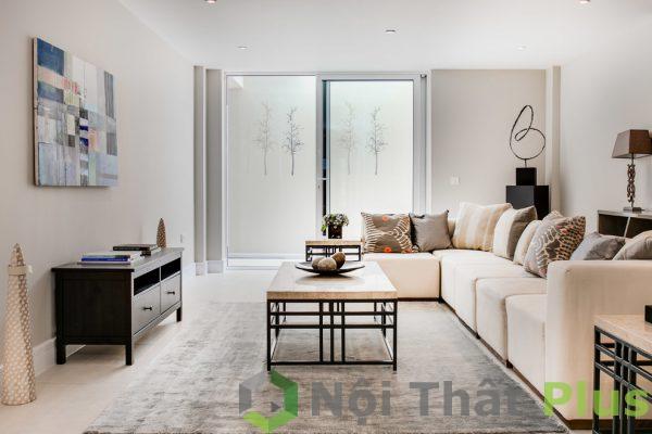 mẫu nội thất phòng khách nhà phố