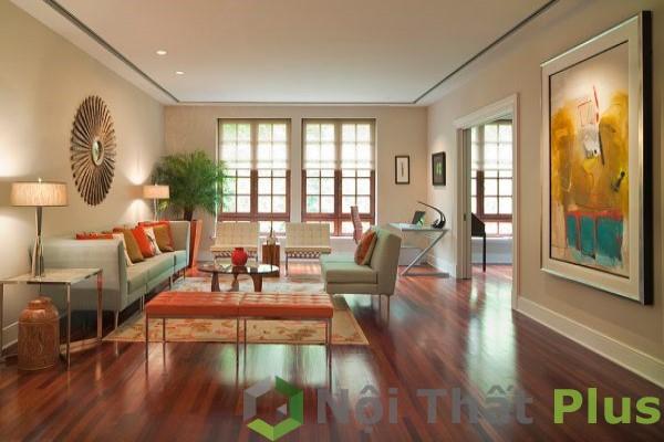mẫu nội thất phòng khách rộng rãi, thoáng mát