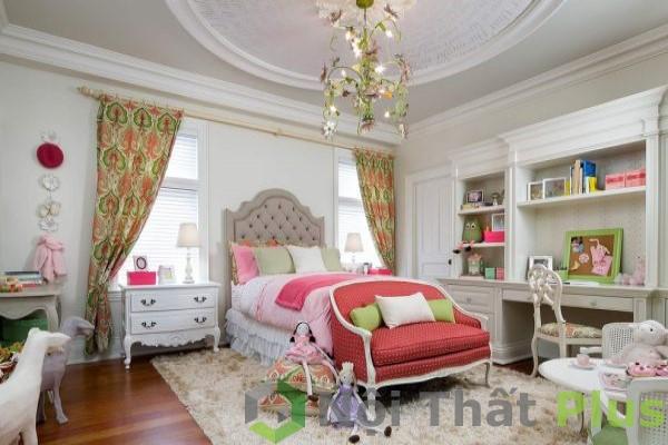 mẫu nội thất phòng ngủ cho bé gái
