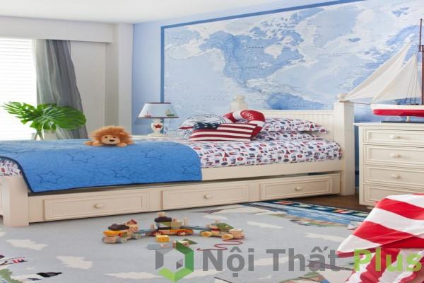 mẫu nội thất phòng ngủ cá tính cho bé trai