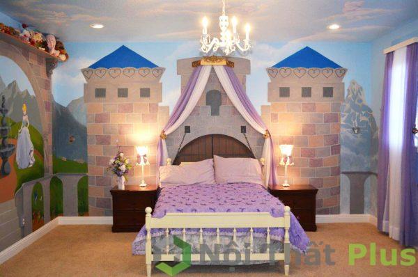 mẫu nội thất phòng trẻ kiểu công chúa