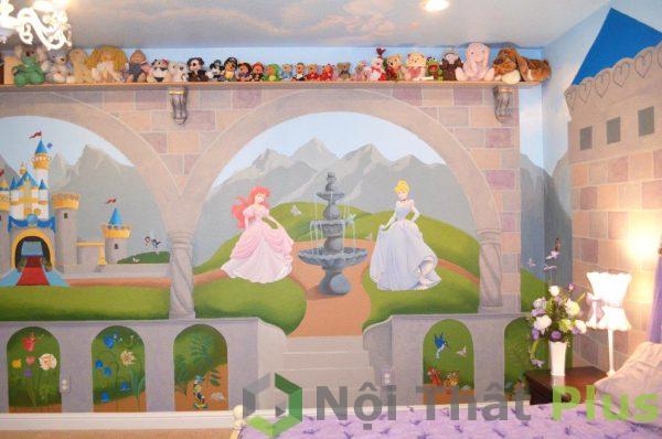 trang trí tường cho phòng trẻ