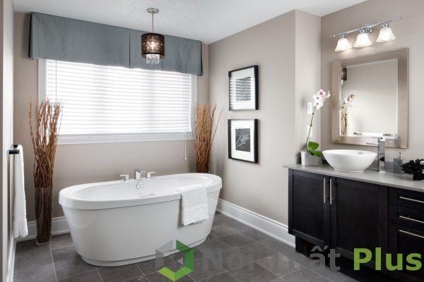 mẫu phòng tắm tối giản cho nội thất nhà 70m2