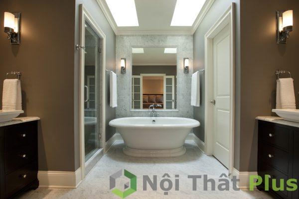 mẫu thiết kế phòng tắm sang trọng cho nhà ống