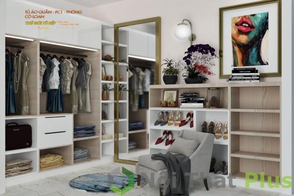 phòng ngủ nhà cô loan khi thi công nội thất chung cư