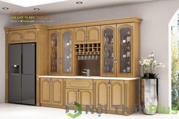 tủ rượu sang trọng cho nội thất chung cư