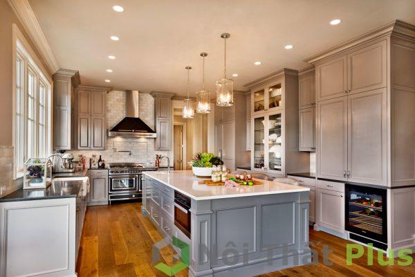 mẫu nội thất phòng bếp tân cổ điển số 10