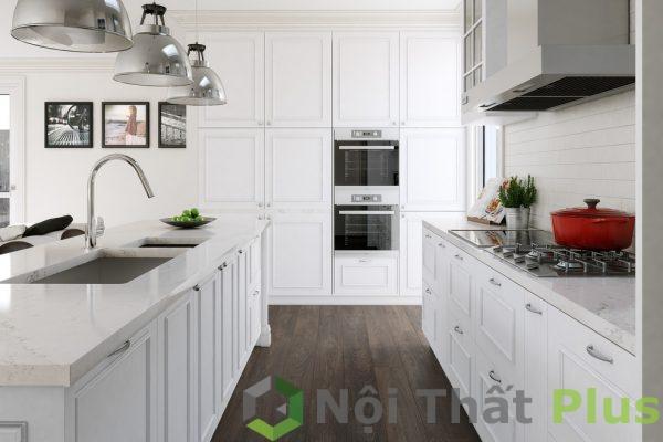mẫu nội thất phòng bếp màu trắng
