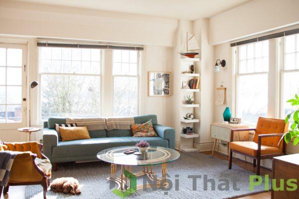 ánh sáng tự nhiên cho nội thất phòng khách