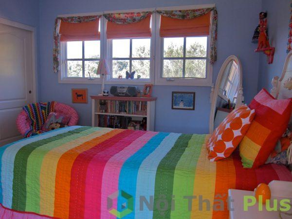 mẫu phòng ngủ đầy màu sắc