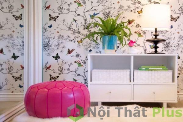 không gian nội thất hài hòa cho bé gái