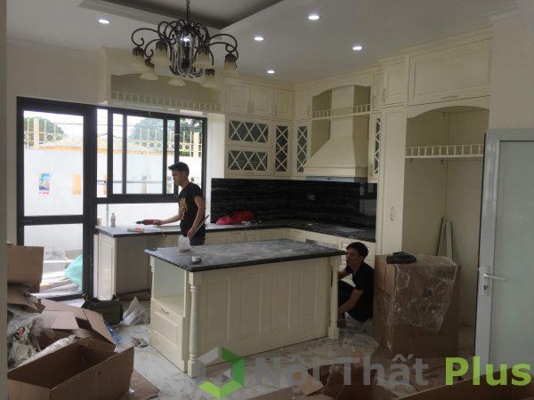 quá trình thi công nội thất phòng bếp